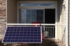Mini-Solar-Kraftwerk, Balkon-Modul, Guerilla Photovoltaik