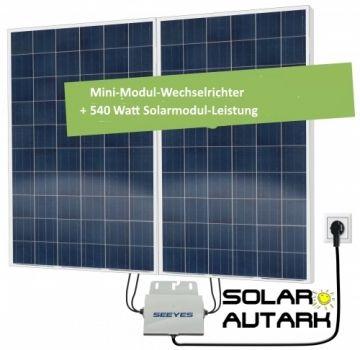 Solar-Autark 560 Watt Solar-Set