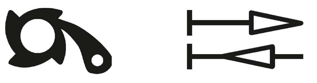 rücklaufschutz bidirektional symbole