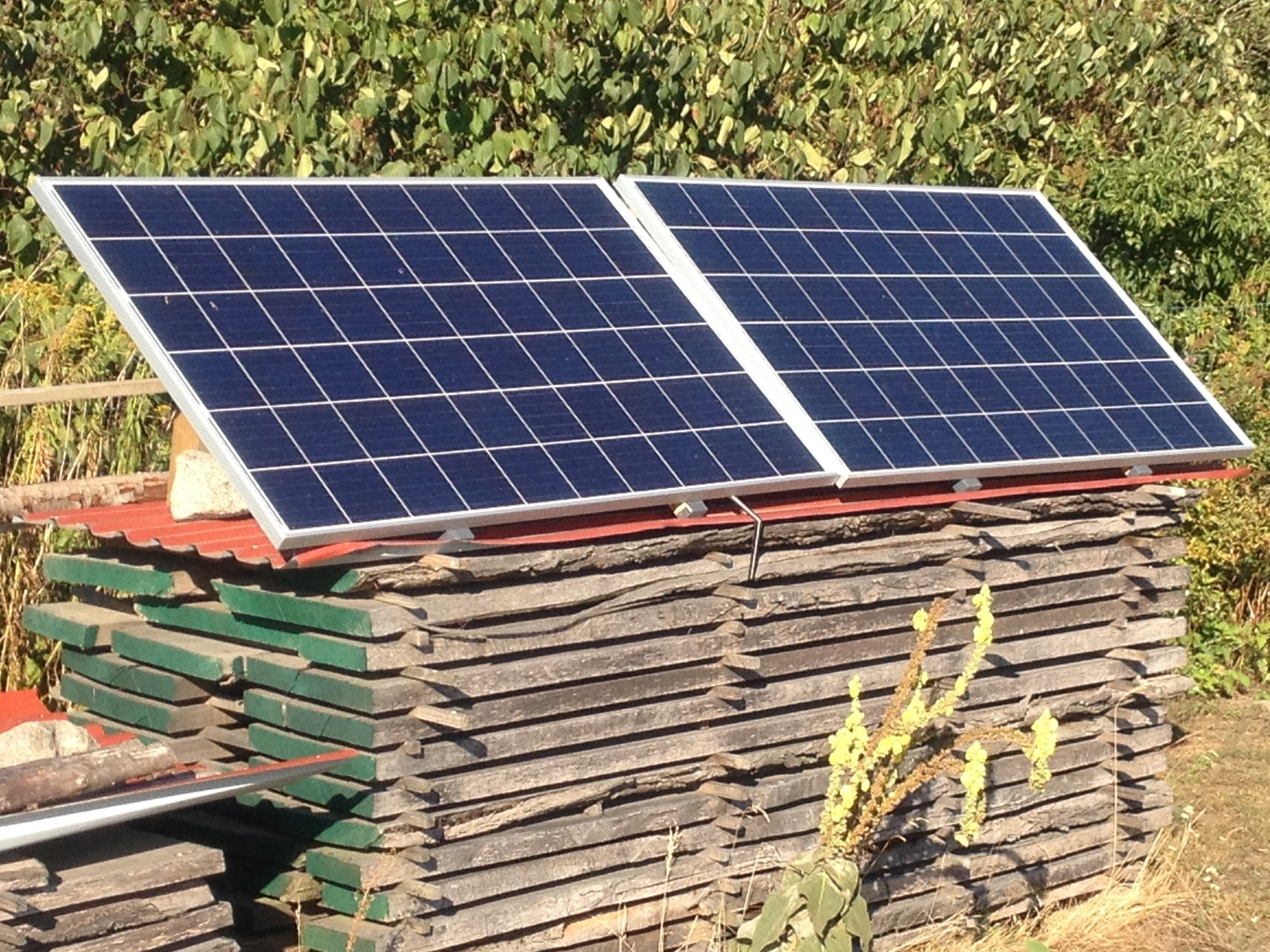 Mini-Solar-Kraftwerk Garten